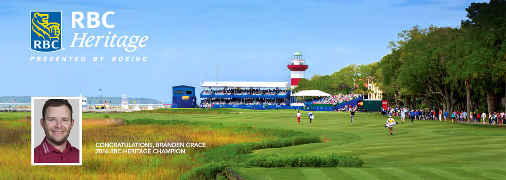 And the Winner of the RBC Heritage is Branden Grace